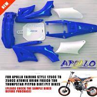 BLUE Plastic/Fender Kit 125/250cc Apollo/Thumpstar/Atomik/Orion/ Dhz Foxico Bike