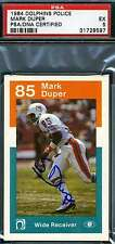 MARK DUPER ROOKIE 1984 DOLPHINS POLICE SIGNED PSA/DNA AUTHENTIC AUTOGRAPH