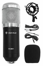 Rockville RCM01 Pro Studio Recording Condenser Microphone Mic+Metal Shock Mount
