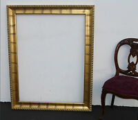 "Gorgeous Large Gold Gilt Wall Mantle Picture Frame Designer Frame 50""H x 40""W"