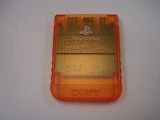 Sony Playstation 1 Candy Naranja PS1 de tarjeta de memoria