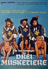 Ingrid Steeger Die Sex-Abenteuer der drei Musketiere Orig. Filmplakat gefaltet