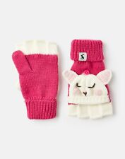 Joules Girls Chummy   Knitted Bunny Character Converter Gloves -  Size 8yr-12yr