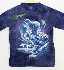 THE MOUNTAIN Find 11 Polar Bears Northern Light Graphic T-SHIRT MEN'S ADULT L