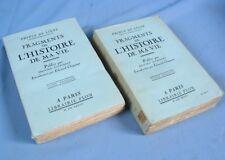 FRAGMENTS de l'HISTOIRE de ma VIE, par le Prince de Ligne / Plon Éditeur en 1928