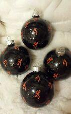 Browning Buck Doe  Deer Hunter glass Christmas ball ornament  Handmade free ship