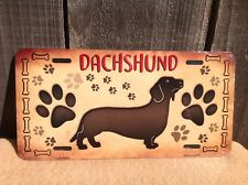 Dachshund Paw Prints Wholesale Metal Novelty Wall Decor License Plate