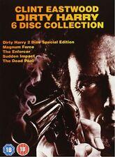 Dirty Harry Collection Box Set dvd NEU 6dvds 1,2,3,4,5 Clint Eastwood deutsch