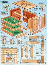 Bricolage menuiserie construction en bois Activité de fichiers PDF 10 Go 2 dvd 2 cd complet Plan Blueprint Guides