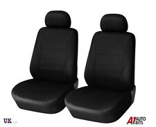 For Opel Vauxhall Corsa C D Meriva Astra G H Black Fabric Front Seat Covers