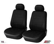 1+1 UNIVERSAL BLACK FRONT SEAT COVERS CAR VAN MOTORHOME BUS MPV TRUCK NEW