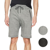 Brooklyn Athletics Men's Zipper Pocket Jogger Shorts Casual Active Workout S-4XL