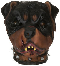 Zombie Rotteweiler Mad Dog Mask Scary Horror Halloween Fancy Dress Costume