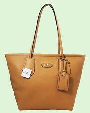 COACH TAXI Zip Top Nude Leather Shoulder Handbag Msrp $295.00