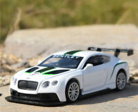 1:43 BENTLEY Continental GT3 Racing Alloy Sports Car Model  Kids Toy