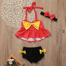 1-2T 3Pcs Toddler Kid Baby Girl Swimsuit Swimwear Bathing Suit Tankini Bikini 02
