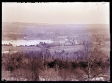 ANTIQUE GLASS NEGATIVE, FC PHILPOT, LIMERICK ME. FROM HILL, TOWN AND LAKE