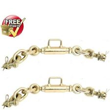 UNIVERSAL CHECK CHAIN STABILIZER PAIR TRACTOR 3 POINT HITCH COMPACT TRACTORS