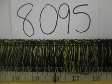 "9 yards BRUSH FRINGE 1 1/2"" DARK GREENS/GOLD Decorative Fabric Trim A8095"