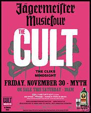 The Cult 2007 Minneapolis Concert Tour Poster-Alt Metal