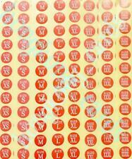 =864pc Mixed Size Garment Label Clothing Round stickers Self-Adhesive XS - XXXXL