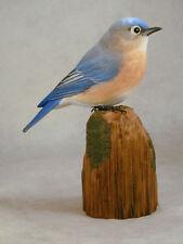 Female Eastern Bluebird Original Wood Carving