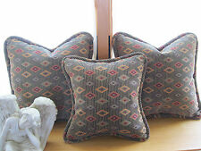 Ethan Allen Fabric Corded Pillow with Feather/Down Insert - 18 x 18 Inches