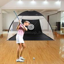10' Golf  Driving Hit Net Practice Outdooor Training Cage Mat Aid Driver Irons