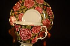 Royal Albert Black Roses Cup and Saucer - June