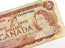 1974 Canada 2 Dollar ABX Prefix Circulated Canadian Lawson Bouey Banknote M833
