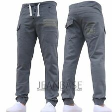Mens AD DESIGNER Stretch Cuffed Jogger Jeans Chinos Pants Waist Size 28-48 Grey 36 In. 32l
