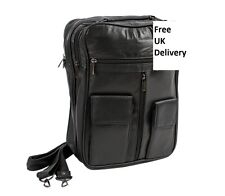 Mens Unisex Ladies Travel Holiday Business Utility Bag Genuine Leather 1514
