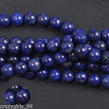 DIY 8MM 20Pcs Natural Lapis Lazuli Gemstone Round Spacer Loose Beads
