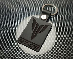MT 09 Leather Keyring Keychain Motorbike Motorcycle SP Hyper naked 850 900 BLACK