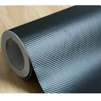 Carbon Fiber Vinyl DIY Truck  Sheet 1-27M Decal 3D Car Black Waterproof Film