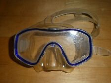 Taucherbrille Tauchmaske Kinder blau Safety Lens