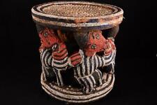 11235 Afrikanische Alte Bamun Hocker Kamerun