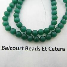 Cat's Eye Beads 65 PC Green (Dark) Size:  6mm Fiber Optic/Loose Gorgeous