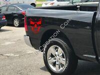 Skull Decals, Truck Graphics, Vinyl Car Stickers x2 skeleton Style Racing Decals