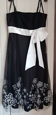 Debenhams Debut Black/ White Tulle Occasion Dress (10) Prom Wedding Party...