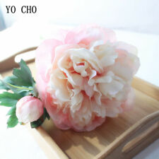 14cm Big Peony Silk Flowers Artificial Pink Wedding Bouquet Home Floral Decor