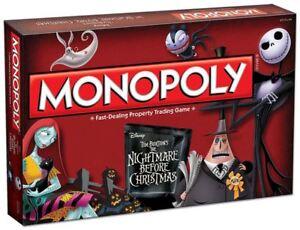 Winning Moves Disney Monopoly Tim Burtons Nightmare Before Christmas Board Game