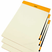 Set of 3 x Rhodia A4 90gsm Ivory Vellum Paper Drawing Sketching Pads Art Books