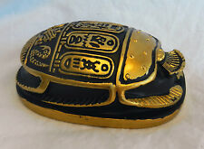 Gilded Black Egyptian Scarab with Hieroglyphs - Paperweight / Figure - BNIB