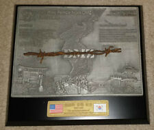 Korean War [The Wire From Fence DMZ] Ltd Ed. 50th Anniversary Plaque w/ Box