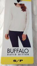 BUFFALO DAVID BITTON Women T-shirt Size S Tops Long Sleeve Casual WHITE