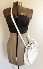 Liz Clairborne bright white arctic convertible shoulder bag formal purse mod