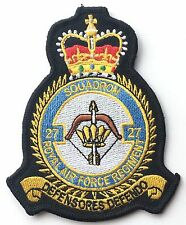RAF No.27 Squadron Royal Air Force Crest Embroidered Patch
