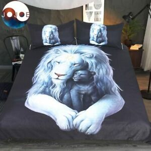 Child of Light Black Lion JoJoes Art Double Single Quilt Duvet Pillow Cover Set