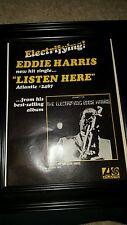 Eddie Harris Listen Here Rare Original Promo Poster Ad Framed!